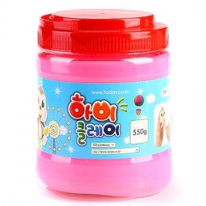 550g 하비클레이 단색점토/핑크
