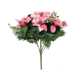 크리스마스트리 장식 믹스포인부쉬 핑크(Pink)