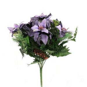 크리스마스트리 장식 믹스포인부쉬 퍼플(Purple)