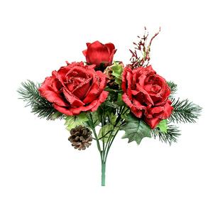 크리스마스트리 장식 로즈믹스부쉬 레드(Red)