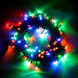 LED 100구 콘넥트전구-녹색선 칼라