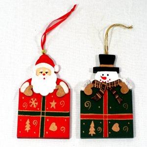 목각선물상자 눈사람/산타