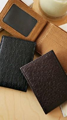 타조질감 지갑