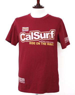 캘리포니아 백 프린팅 티셔츠_레드