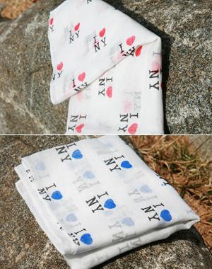 I♡NY 프린팅 스카프