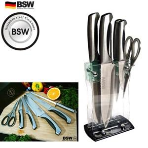 [독일BSW 고급주방칼 블랙 7종(식도,중과도,소과도,빵칼,주방가위,칼갈이,칼집)]칼세트/주방용품/과도/나이프/집들이/혼수품/선물용