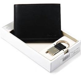 CK 캘빈클라인 남성반지갑 + 키홀더 세트 79025 블랙