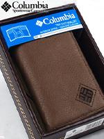 Columbia 컬럼비아 남성 삼단지갑 1140 브라운