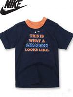 NIKE KIDS 나이키 키즈 반팔 라운드 티셔츠 - 옵시디언 (667910-695)