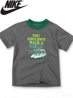 NIKE KIDS 나이키 키즈 반팔 라운드 티셔츠 - 그레이 (668171-017)