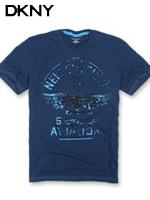 DKNY 도나카란뉴욕 정품 빈티지 라운드 티셔츠 419 - 네이비
