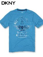 DKNY 도나카란뉴욕 정품 빈티지 라운드 티셔츠 506 - 블루