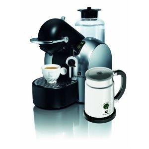 [네스프레소] D290 컨셉 자동 에스프레소와 커피 머신-사틴 크롬 & 에어로치노 우유 거품기 세트 상품