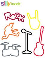 [Silly Bandz] 실리밴드 미국 직수입 정품 칼라 고무줄 장난감 - 락(24p)