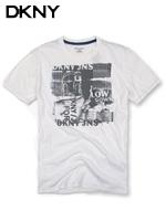 DKNY 도나카란뉴욕 정품 빈티지 라운드 티셔츠 100 - 화이트