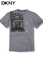 DKNY 도나카란뉴욕 정품 빈티지 라운드 티셔츠 020 - 챠콜