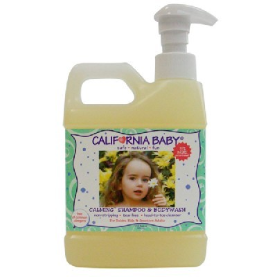[California Baby] 캘리포니아베이비 18번 대용량 라벤더 카밍 샴푸 & 바디워시 17.5oz/517ml