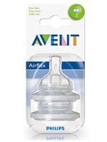 AVENT 필립스 아벤트 젖병전용 젖꼭지 2단계(1~3개월용)