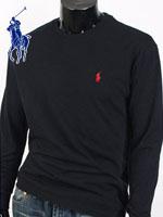 POLO 폴로랄프로렌 라운드 긴팔티셔츠 - 블랙
