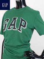 GAP 갭 키즈 라운드 반팔티셔츠 - 그린/네이비 패치