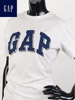 GAP 갭 키즈 라운드 반팔티셔츠 - 화이트/블루 패치
