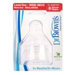 DR. BROWN'S 닥터브라운 2012년 신형 와이드 젖병전용 젖꼭지 1단계(0~3개월)