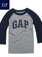 GAP 갭 베이비 긴팔 티셔츠 - 그레이/네이비