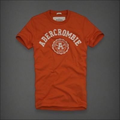 Abercrombie 아베크롬비 남녀공용 반팔티 디어브룩(Deer Brook) - 오렌지