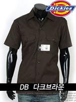 디키즈 반팔 워크셔츠(Work Shirts) 1574 - 다크브라운(DB)