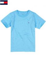 Tommy Hilfiger 타미힐피거 베이비 반팔 라운드 티셔츠 - 스카이블루