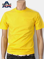 AAA 트리플A 반팔 무지 티셔츠 - 옐로우