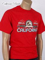 California Beach 캘리포니아 비치 반팔 티셔츠 - #13/레드