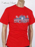 California Beach 캘리포니아 비치 반팔 티셔츠 - #12/레드