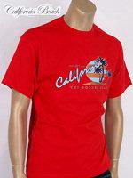 California Beach 캘리포니아 비치 반팔 티셔츠 - #17/레드