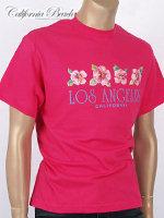 California Beach 캘리포니아 비치 반팔 티셔츠 - #9/핑크