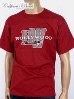 California Beach 캘리포니아 비치 반팔 티셔츠 - #6/와인