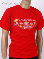 California Beach 캘리포니아 비치 반팔 티셔츠 - #5/레드