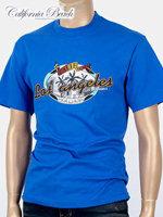 California Beach 캘리포니아 비치 반팔 티셔츠 - #4/블루