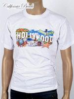 California Beach 캘리포니아 비치 반팔 티셔츠 - #1/화이트