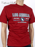 California Beach 캘리포니아 비치 반팔 티셔츠 - #2/와인