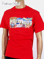 California Beach 캘리포니아 비치 반팔 티셔츠 - #1/레드