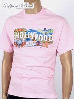 California Beach 캘리포니아 비치 반팔 티셔츠 - #1/핑크