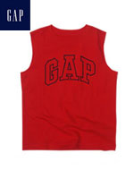GAP 갭 베이비 민소매 티셔츠 - 레드/네이비