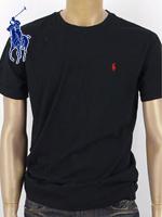 POLO 폴로랄프로렌 남녀공용 라운드 반팔 티셔츠 - 블랙