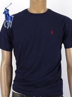 POLO 폴로랄프로렌 남녀공용 라운드 반팔 티셔츠 - 네이비