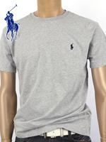 POLO 폴로랄프로렌 남녀공용 라운드 반팔 티셔츠 - 그레이