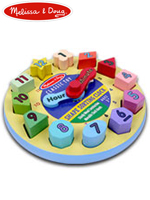 Melissa & Doug Shape Sorting Clock 멜리사앤더그 유아교구 원목 시계놀이 퍼즐