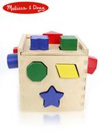Melissa & Doug Shape Sorting Cube 멜리사앤더그 유아교구 원목 모양맞추기 큐브 퍼즐