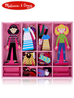 Melissa & Doug Abby & Emma Magnetic Dress-up 멜리사앤더그 유아교구 나무자석 인형놀이