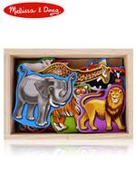 Melissa & Doug Wooden Animal Magnets 멜리사앤더그 유아교구 나무 동물 자석 장난감